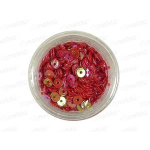Zdobení na nehty, kolečka (dutá) CDčka - červená obraz
