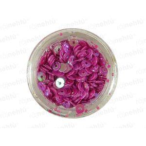 Zdobení na nehty, kolečka (dutá) CDčka - magenta obraz