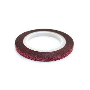 Zdobící páska 3mm - glitter červená obraz