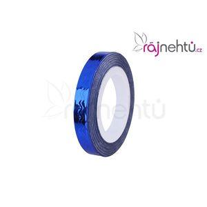 Zdobící páska vlnka - modrá obraz
