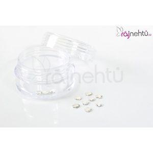 Zdobení na nehty kovové - mušličky stříbrné obraz