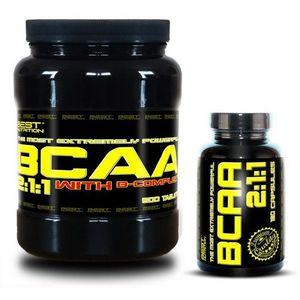 BCAA 5000 + BCAA 2: 1: 1 Zdarma od Best Nutrition 250 tbl. + 120 kaps. obraz