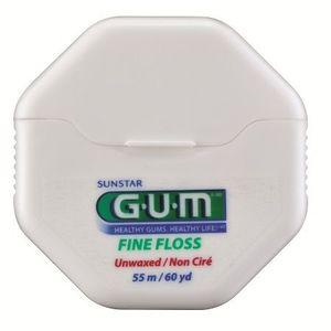 GUM Fine Floss zubní nit nevoskovaná, 55 m obraz