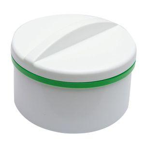 Dóza pro zubní náhrady se sítkem, bílo-zelená obraz