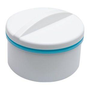 Dóza pro zubní náhrady se sítkem, bílá/modrá obraz