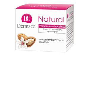 Dermacol - Natural almond night cream - Noční hloubková péče na suchou, velmi suchou a citlivou pleť - 50 ml obraz