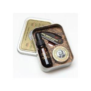 Captain Fawcett Ricki Hall´s olej na vousy 10 ml + vosk na knír 15 ml + skládací hřeben na knír dárková sada obraz