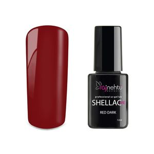 Ráj nehtů UV gel lak Shellac Me 12ml - Red Dark obraz