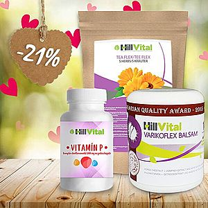 HillVital | Balzám na křečové žíly, vitamíny a čaj - balíček na varixy 500g obraz