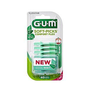 GUM Soft-Picks Regular Comfort Flex Mint, ISO 1, 40 ks obraz