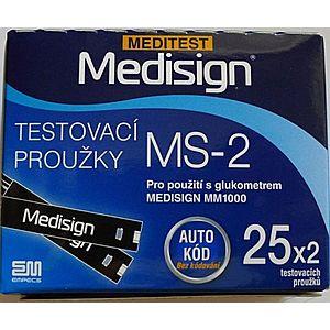 Testovací proužky Meditest Medisign MS-2 50 ks obraz