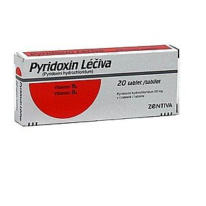Pyridoxin Léčiva 20 mg 20 tablet obraz