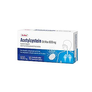 Dr.Max Acetylcystein 600 mg 10 šumivých tablet obraz