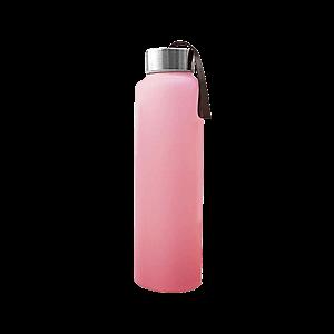 Everyday Baby skleněná láhev na vodu, 400 ml, růžová obraz