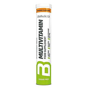 Multivitamin šumivé tablety - Biotech USA 20 tbl. Orange obraz
