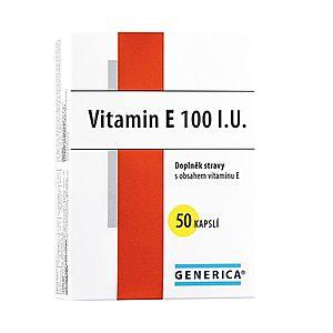 Generica Vitamin E 100 I.U. 50 kapslí obraz
