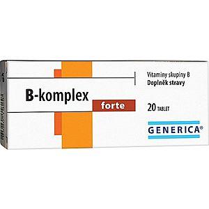 Generica B-komplex forte 20 tablet obraz