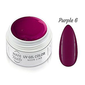 NANI UV gel Neon Line 5 ml - Purple obraz