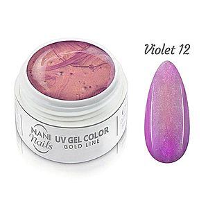 NANI UV gel Gold Line 5 ml - Violet obraz