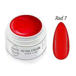 NANI UV gel Neon Line 5 ml - Red obraz
