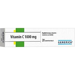 Generica Vitamin C 1000 mg 20 šumivých tablet obraz