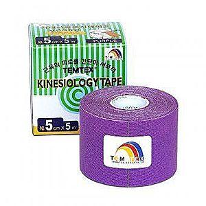 TEMTEX Kinesio tape 5 cm x 5 m tejpovací páska fialová obraz