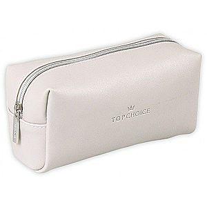 Top Choice Kosmetická taška LEATHER - 96945 Barva: Bílá obraz