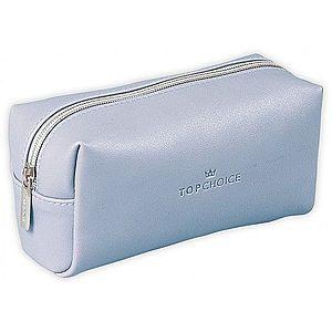 Top Choice Kosmetická taška LEATHER - 96945 Barva: Modrá obraz