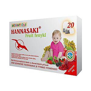 Hannasaki Fruit fenykl dětský porcovaný čaj 20x2 g obraz