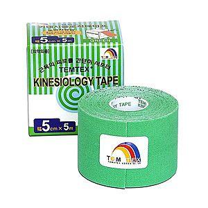 TEMTEX Kinesio tape 5 cm x 5 m tejpovací páska zelená obraz