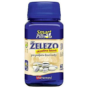 VitaHarmony Železo 20 mg s kyselinou listovou SmartPills 60 tablet obraz