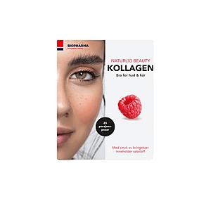 Hydrolyzovaný mořský kolagen s vitamínem C a biotinem - Norsk Kollagen - Biopharma - 25x5 g Příchuť: Malina obraz