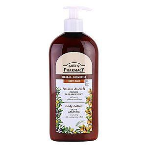 Green Pharmacy Body Care Olive & Argan Oil výživné tělové mléko s hydratačním účinkem 500 ml obraz