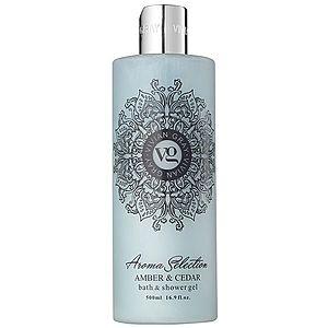 Vivian Gray Aroma Selection Amber & Cedar sprchový a koupelový gel 500 ml obraz