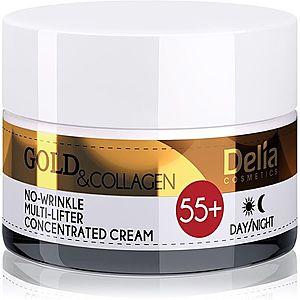 Delia Cosmetics Gold & Collagen 55+ protivráskový krém s liftingovým efektem 50 ml obraz