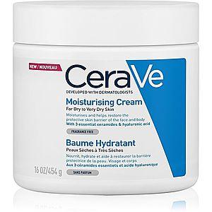 CeraVe Moisturizers hydratační krém na obličej a tělo pro suchou až velmi suchou pokožku 454 g obraz
