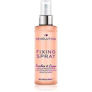 I Heart Revolution Fixing Spray fixační sprej na make-up s vůní Peaches & Cream 100 ml obraz