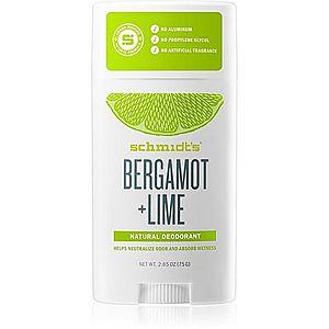 Schmidt's Bergamot + Lime tuhý deodorant 75 g obraz