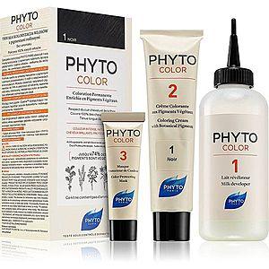 Phyto Color barva na vlasy bez amoniaku odstín 1 Noir obraz