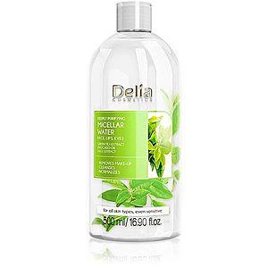 Delia Cosmetics Micellar Water Green Tea osvěžující čisticí micelární voda 500 ml obraz