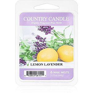 Country Candle Lemon Lavender vosk do aromalampy 64 g obraz