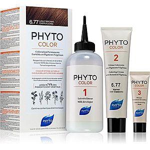 Phyto Color barva na vlasy bez amoniaku odstín 6.77 Light Brown Capuccino obraz