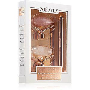 Zoë Ayla Luxurious Rose & Clear Quartz Roller masážní váleček (na obličej) + náhradní hlavice obraz