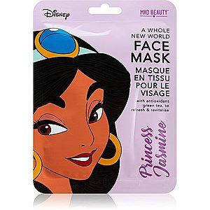 Mad Beauty Disney Princess Jasmine revitalizační plátýnková maska s výtažkem zeleného čaje 25 ml obraz