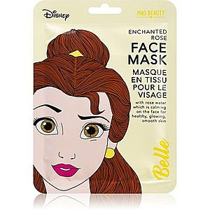Mad Beauty Disney Princess Belle zklidňující plátýnková maska s výtažkem ze šípkové růže 25 ml obraz