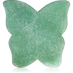 Crystallove Butterfly Aventurine Gua Sha Plate masážní pomůcka obraz