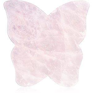 Crystallove Butterfly Rose Quartz Gua Sha Plate masážní pomůcka obraz