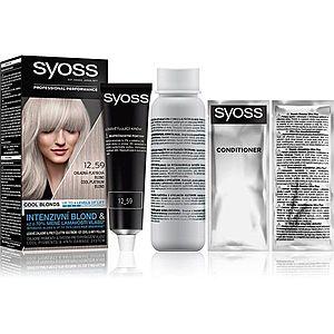 Syoss Cool Blonds permanentní barva na vlasy odstín 12-59 Cool platinum blond obraz