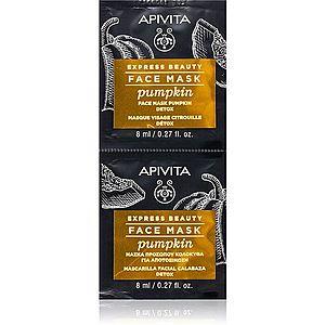 Apivita Express Beauty Pumpkin detoxikační pleťová maska 2 x 8 ml obraz