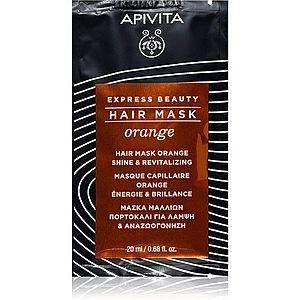 Apivita Express Beauty Orange revitalizační maska na vlasy 20 ml obraz